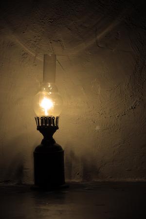 penury: Old style lamp Stock Photo