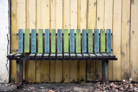 Old wooden bench photo