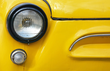Vintage yellow car- picture can be used as a background