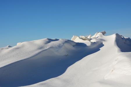 Frozen sea shore at the winter season photo