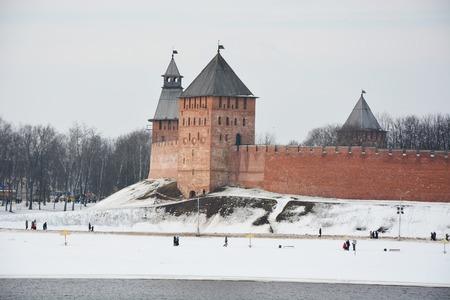 Kremlin in Veliky Novgorod. View from Volkhov river