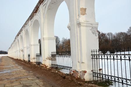 veliky: Veliky Novgorod, Yaroslav Courtyard. Historic Landmarks Russia