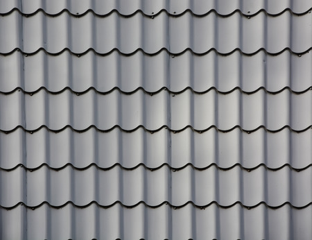 thatcher: Grey Roof tiles. Picture can be used as a background Stock Photo