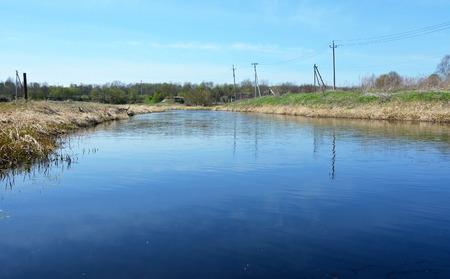 ladoga: Ladozhka river (Elena river) at the Staraya Ladoga city, Russia Stock Photo