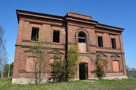 ladoga: Old and abandoned building in Staraya Ladoga, Russia