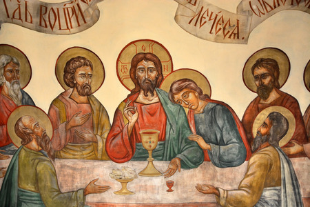 iconography: Interior of the The Church of St. John the Baptist on Malysheva Mountain in Staraya Ladoga
