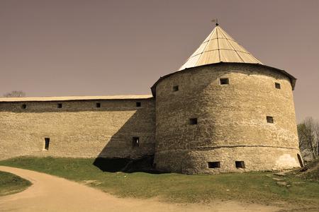 volkhov: Ancient fortress at Staraya Ladoga city, Russia