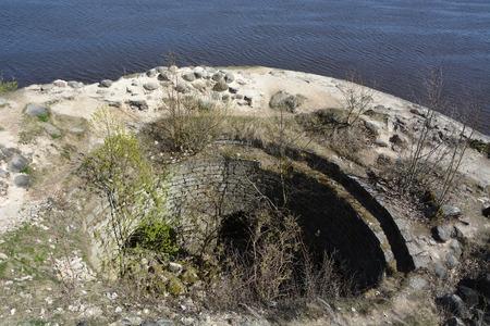 ladoga: Ruins of the Ancient fortress in Staraya Ladoga city, Russia