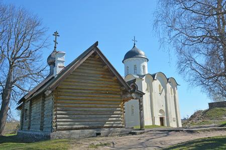 ladoga: The wooden Orthodox Church of Dmitry Solunsky at Staraya Ladoga city Editorial