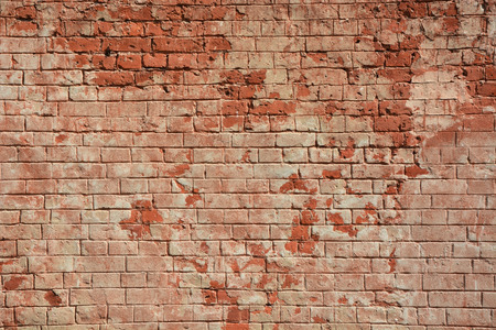 split level: Ancient red brick wall as a background Stock Photo