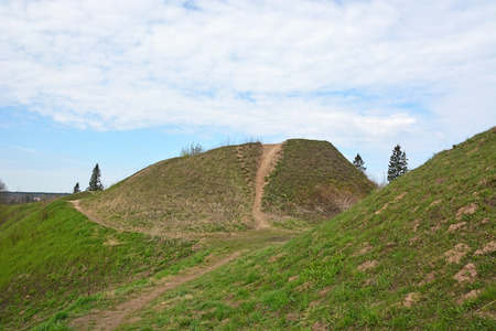 tumulus: Burial mound- the place, as a legend says, where is the Prophetic Oleg funeral