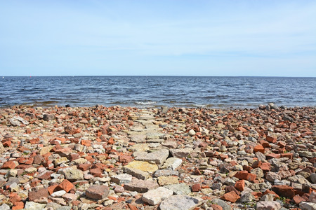 ladoga: Ladoga sea shore near the oreshek fortress