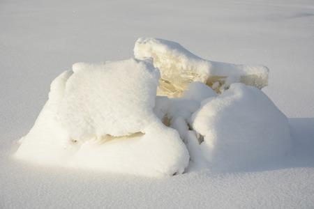 snowdrift: Snowdrift pattern at winter season