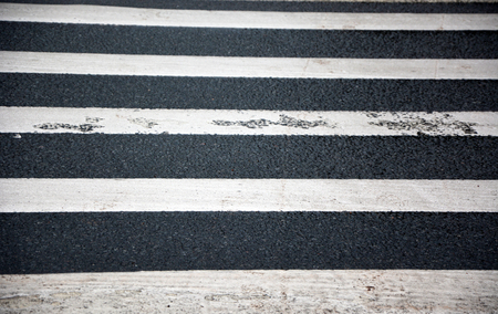 Pedestrian lines on the road
