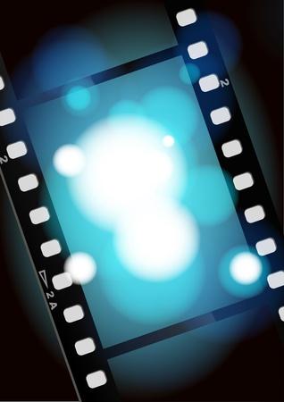 camara de cine: pel�culas de cine de color azul claro de fondo