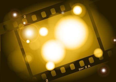 movies film brown light background Stock Photo - 9919492