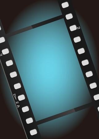 movies film blue light background Stock Photo - 9919475