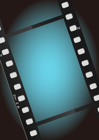 movies film blue light background Stock Photo - 9919475