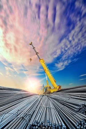 vervormd staalstaal Stockfoto