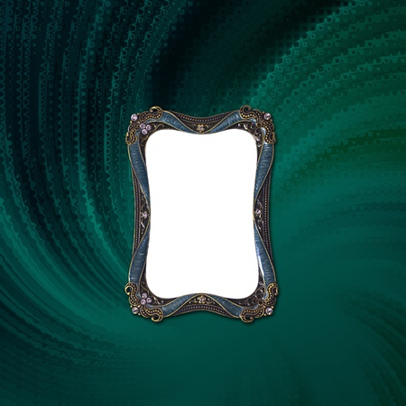 antique Luxury picture frame on fabric Stock Photo - 10016839