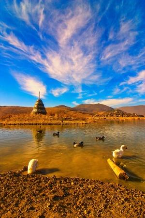 mani: Mani Stone and lake