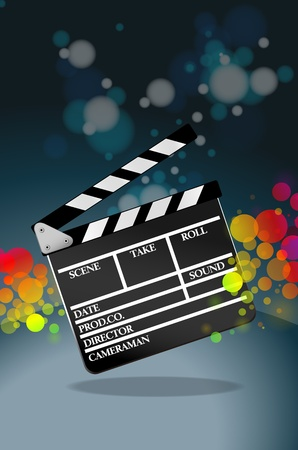 multi media: Clapper board Stock Photo