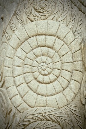 Grunge ancient style stone carving photo