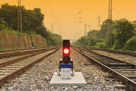antiquity: antiquity railway and signal lamp