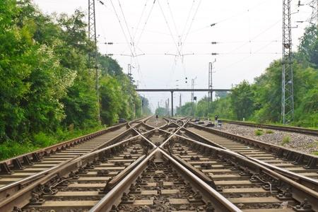 railway points: antiquity railway Stock Photo
