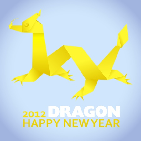 2012: New Year greeting card, year of the dragon Stock Vector - 10995734