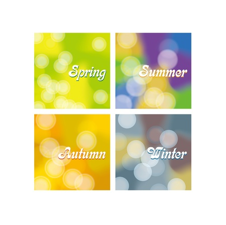 seasons Bokeh dot light background Vector