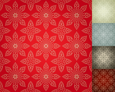 western asia: Chinese Seamless Damask wallpaper background