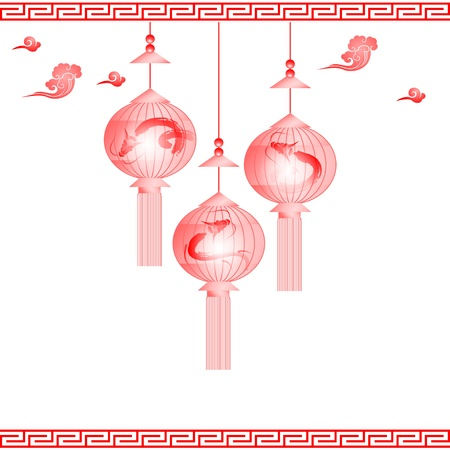 traditional of Chinese Mid Autumn Festival or Lantern Festival Vector