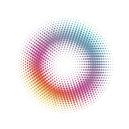 espiral: abstracto C�rculo de medios tonos puntos patr�n de fondo