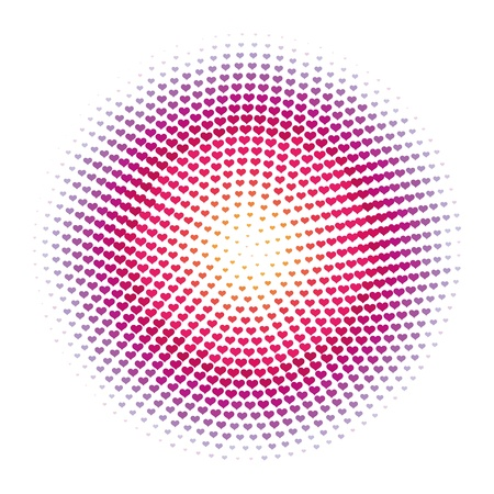 abstract halftone heart dots  pattern background