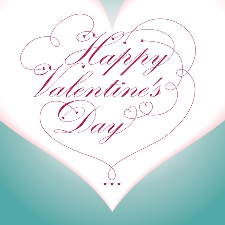 happy Valentine Day type text on heart shape pattern Stock Vector - 12049483