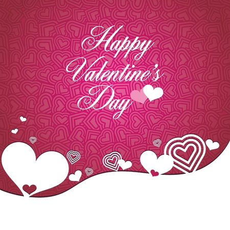 happy valentine day type text on heart shape seamless design pattern Stock Vector - 12049521