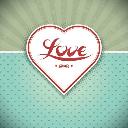 Grunge heart frame. Gift card. Valentine Stock Vector - 12215438