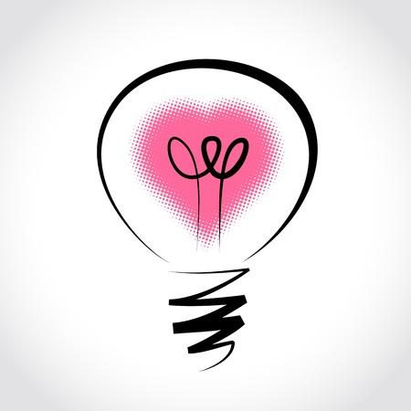 symbol of innovation and good ideas Illustration