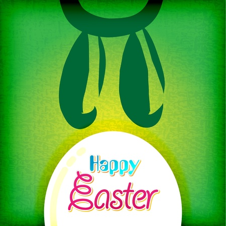 painted the cover illustration: happy easter greeting card,bunny eggs Illustration