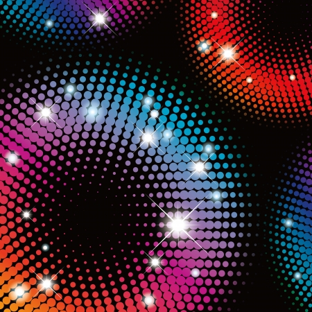 flash light: Abstract  colorful Halftone