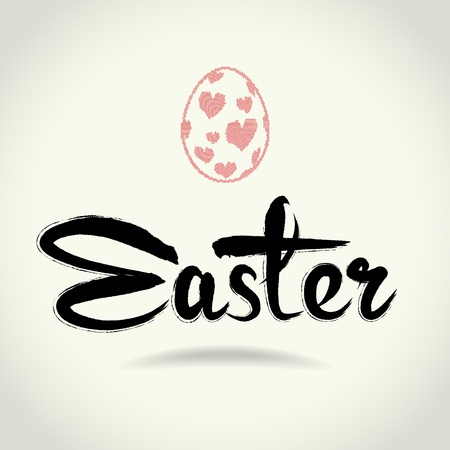 art  free writing  letters &quot,easter&quot,  text doodles for happy easter Vector
