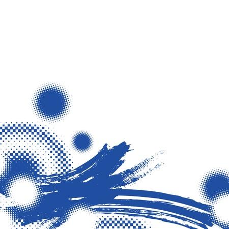 brushwork: asian abstract brushwork illustration background Illustration