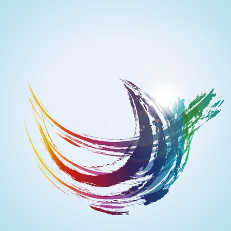 vector  color paint water wave background