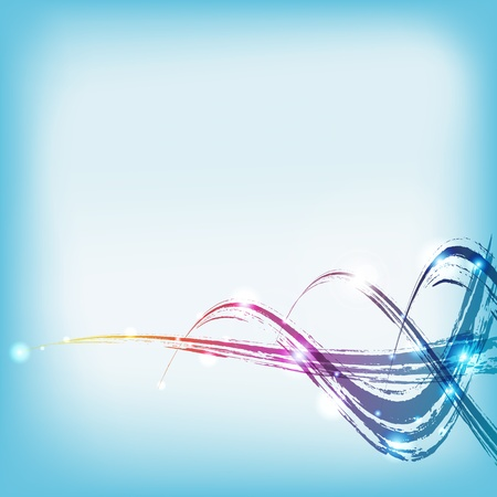 vector  color paint water wave background Vector