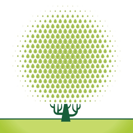 vecor  abstract geometric figure tree pattern background Vector