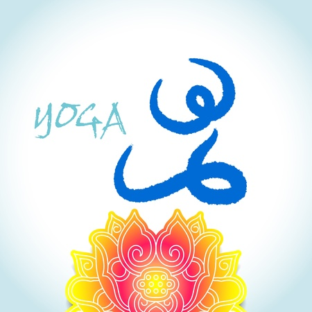 Yoga and spa lotus abstract icon,sitting Vector