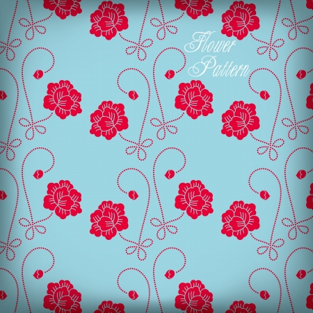 china rose:  beautiful Seamless color rose pattern background Illustration
