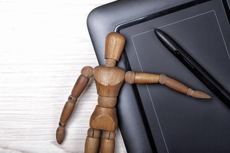 digitizer: digitizer table and artist