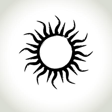 Brushwork Symbol Sun Vector
